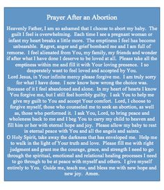 A prayer from an abortive mother. Thank you Lord that you will forgive her! Thank you Lord that you forgave me! Jesus died so God could forgive your sins, past present and future. Because He loves you.