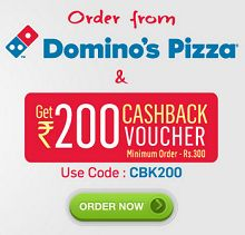 Order Dominos Pizza Worth Rs.300 & Get Free Rs.200 Foodpanda Voucher From Foodpanda