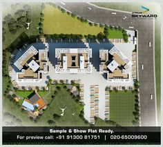 The master layout plan.  Atrium Skyward - Lifestyle apartments coming soon at Opp. Bishop's School, Near NIBM, Undri, Pune.  A project by Atrium Homes.  Sample & Show Flat Ready.  You can call and mail us at the below given details: sales@atriumhomes.in +91 91300 81751 020-65009600  For more details on project visit: www.atriumhomes.in  #realestate #homes #pune #undri #lifestyle #construction #affordable