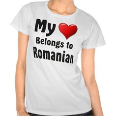 "parleremo - language - languages - romanian |  ""My heart Belongs to Romanian"" Tshirts"