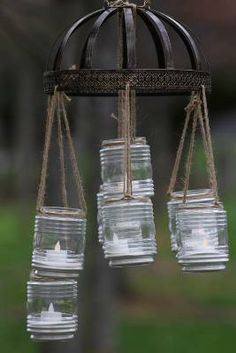 ChristineClaret from our How-To Community walks through how to make a #DIY outdoor chandelier!  #Spring