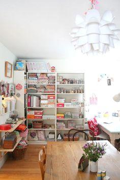 A very neat studio/craft room