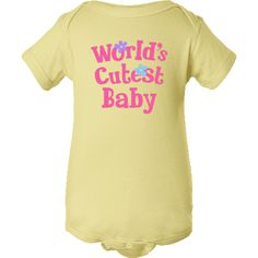 Sweet Worlds Cutest Baby Infant Creepers has pink lettering and flowers for a little girl. $19.99 www.homewiseshopperkids.com  #baby  #girl