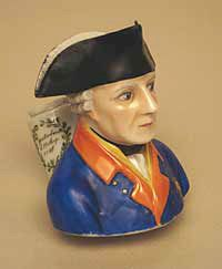 portrait pipe showing the bust of Frederick II of Prussia, Meissen, Germany, 1820-1830