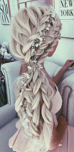favorite wedding hairstyles for long hair braided half up haf down aster
