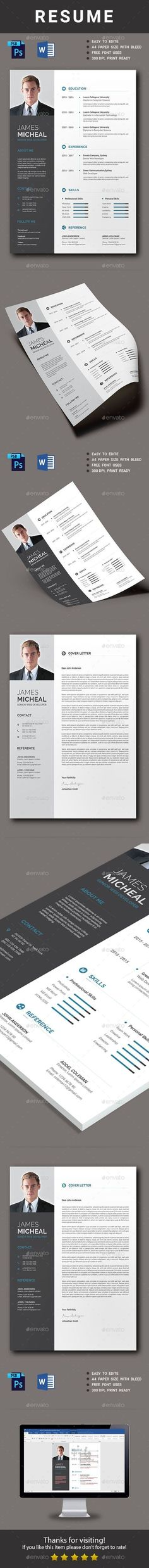 55+ Free Resume Templates for MS Word Cv template, Resume cv and - absolutely free resume builder