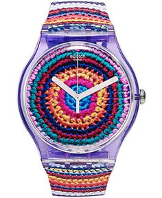 Swatch Unisex Swiss UNCINETTO Multi-Color Silicone Strap Watch 41mm SUOV102 - Watches - Jewelry & Watches - Macy's