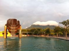 """El cerro de la silla"" The Saddle Hill in Monterrey, México. View from the Fundidora Park."