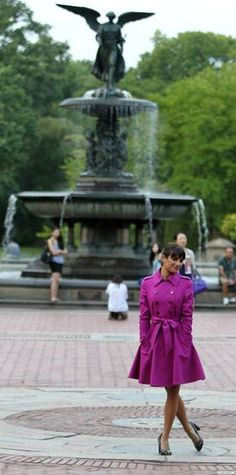 Lea Michele On set - Glee season 5. Central Park, New York City #nyc #leamichele