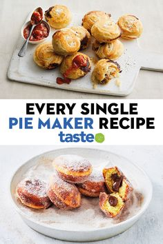 Did you know your Kmart pie maker can do more than just pies! We've gathered all our recipes, from muffins to pancakes, that can easily be adapted to work in a pie maker so you're never short of ideas. Mini Pie Recipes, Tart Recipes, Best Dessert Recipes, Fun Desserts, Baking Recipes, Baking Ideas, Just Pies, Food Tasting, Mini Pies