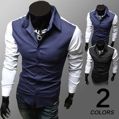 Two-Toned Long Sleeve Shirt . Shop Now At  http://sneakoutfitters.com/collections/new-in/products/ao-cscs-hw-cs24-so43