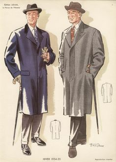 French1950s Fashion Designs For Men by sebraprints on Etsy, $30.00