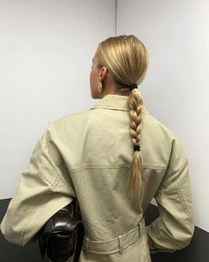 Shared by xvqty. Find images and videos on We Heart It - the app to get lost in what you love. Hair Inspo, Hair Inspiration, Braided Ponytail, Slick Ponytail, Hair Ponytail, Braid Hair, Aesthetic Hair, Dream Hair, Trendy Hairstyles