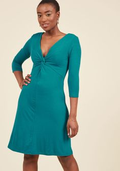 Dress for Yes Knit Dress in Teal