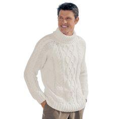 Мужской свитер спицами схема описание. Как связать мужской свитер   Домоводство для всей семьи.