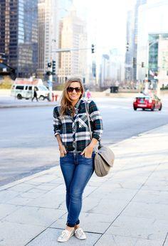 The SOFTEST Plaid Shirt by Rails | Paige Denim | Keds