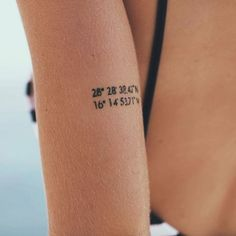 Pin for Later: 40 Tiny Tattoos For Travel-Lovers Coordinates
