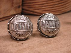 Button Jewelry  Authentic Denver Fire Department cufflinks by thekeyofa, $36.50