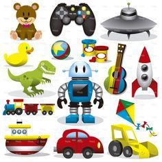 Vector conjunto de brinquedos
