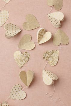 Heart of Gold Garland | BHLDN