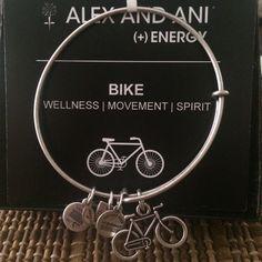 Authentic Alex & Ani Silver Bike Charm Bracelet Authentic Alex & Ani silver bicycle charm bracelet new with tag and card. A black box is provided. Alex & Ani Jewelry Bracelets