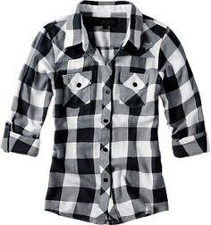 Black and White Plaid Shirt | Shop apparel, fashion | Kaboodle