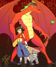 Cartoon As Anime, Cartoon Art, Cartoon Characters, Lizard Dragon, Fire Dragon, Old Cartoons, Disney Cartoons, Alvin Und Die Chipmunks, Guerrero Dragon