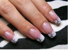 French sun tips 3d Nail Art, 3d Nails, Cute Nails, Cute Nail Designs, Simple Designs, Botanic Nails, French Acrylic Nails, Fabulous Nails, Amazing Nails
