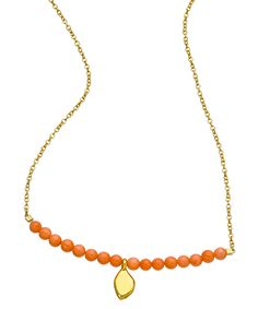 Meredith Hahn Coral Single Leaf Charm Erin Necklace