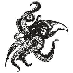 Giant Octopus 54x60 Black