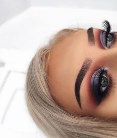 Gorgeous Purple and Blue Smokey Eye ~ To see more modern eye makeup ideas follow me on Pinterest @ Melissa Riley *  Boards include modern wedding dress collections, makeup products, unique wedding photo ideas, chic womens outfits, celebrity lifestyle and