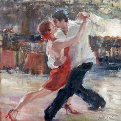 Tango Lights, 24 x 24 , oil, E. Tango Art, Tango Dance, Dance Paintings, Argentine Tango, Dance Photos, Painting & Drawing, Artsy, Lights, Drawings