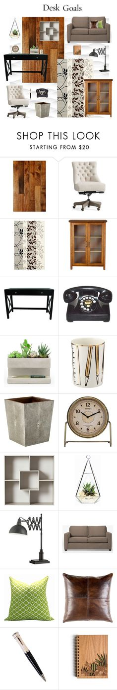 """""""#Workplace"""" by mpartist ❤ liked on Polyvore featuring interior, interiors, interior design, home, home decor, interior decorating, Miseno, Pottery Barn, Safavieh and Elegant Home Fashions"""