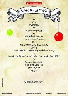 Christmas Poems   Christmas poems, Christmas tree poem ...