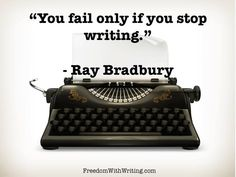 You fail only if you stop writing