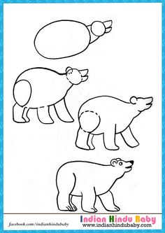 Teach your kid to draw bear with simple drawing tips -  https://www.indianhindubaby.com/polar-bear-step-step-drawing-kids/
