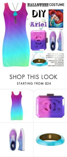 """""""DIY Halloween Costume: 13/10/16 (WGC)"""" by pinky-chocolatte ❤ liked on Polyvore featuring Disney, Chanel, Vans, Alexis Bittar and Panacea"""