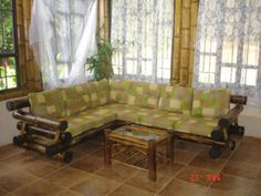 Bamboo Living room furniture (sofas and chairs - couch). Bamboo Living room furniture (sofas and cha Bamboo Sofa, Bamboo Furniture, Couch Furniture, Living Room Furniture, Outdoor Furniture Sets, Sala Set, Bamboo Crafts, Bamboo Design, Furniture Catalog
