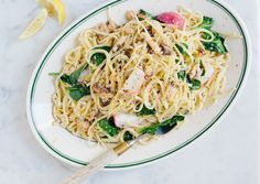 Pasta with Sardines and Lemon Sardines are one of the ocean's most sustainable superfoods. Because they tend to fall apart, save half for t...