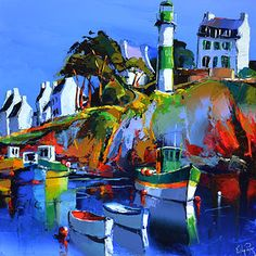 French Art Network | Lepape, Eric - DOELAN-LE PHARE - (60x60cm) - oil on linen painting.