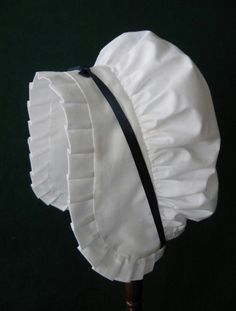 Items similar to Colonial round eared cap for women and girls - custom order on Etsy 18th Century Dress, 18th Century Costume, 18th Century Clothing, 18th Century Fashion, Historical Costume, Historical Clothing, Pioneer Clothing, Pioneer Dress, Baby Girl Hair Accessories