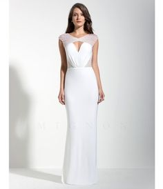 Please allow a 4 day handling time for this dress. Sexy full length dress with beaded sheer cap shoulders, center keyh.....Price - $458.00-Es0wVOtC