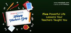 5 Powerful Life Lessons Your Teachers Taught You Local Delivery Service, Making The Team, Happy Teachers Day, Teachers' Day, Student Gifts, Student Learning, Algebra, Teamwork, Never Give Up