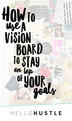 With the summer just about here, it's the perfect time to reflect and refocus on your goals. At the beginning of almost every season, I like to sit down and set up a Vision Board and create a list of goals for that season. This summer I really want to focus on eating better, so my board is going to be full of fresh produce and smoothies. Some of you might be asking, what is a vision board?