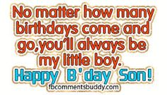 birthday wishes for a son from a mother - Google Search