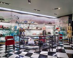 Prada's response to today's fast-changing fashion is surprisingly ancient - News - Frameweb Visual Merchandising, Building Systems, Commercial Lighting, Modular Design, Smart Design, Design Furniture, London, New Builds, Retail Design