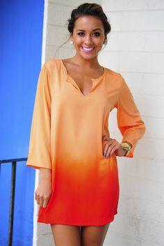 Fade For Me Tunic: Orange Ombre