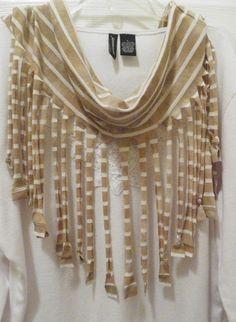 T-Shirt Craft Ideas | Another fringe t-shirt scarf. | Craft Ideas