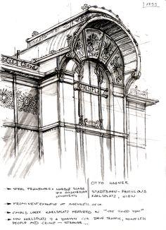 From an old sketchbook by Ksymena Borczynska, via Behance