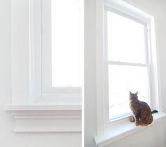 Now that we have our trim picked out - everything from our baseboards, to the windows and the doors - we were really looking forward to diving in, head first, room-by-room. And after mentioning that we were on the fence about adding window sills along the way, you all responded with a resounding do…
